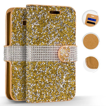 GOLD MOTO E4 FULL DIAMOND CASE