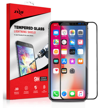 BLACK IPHONE X SCREEN PROTECTOR