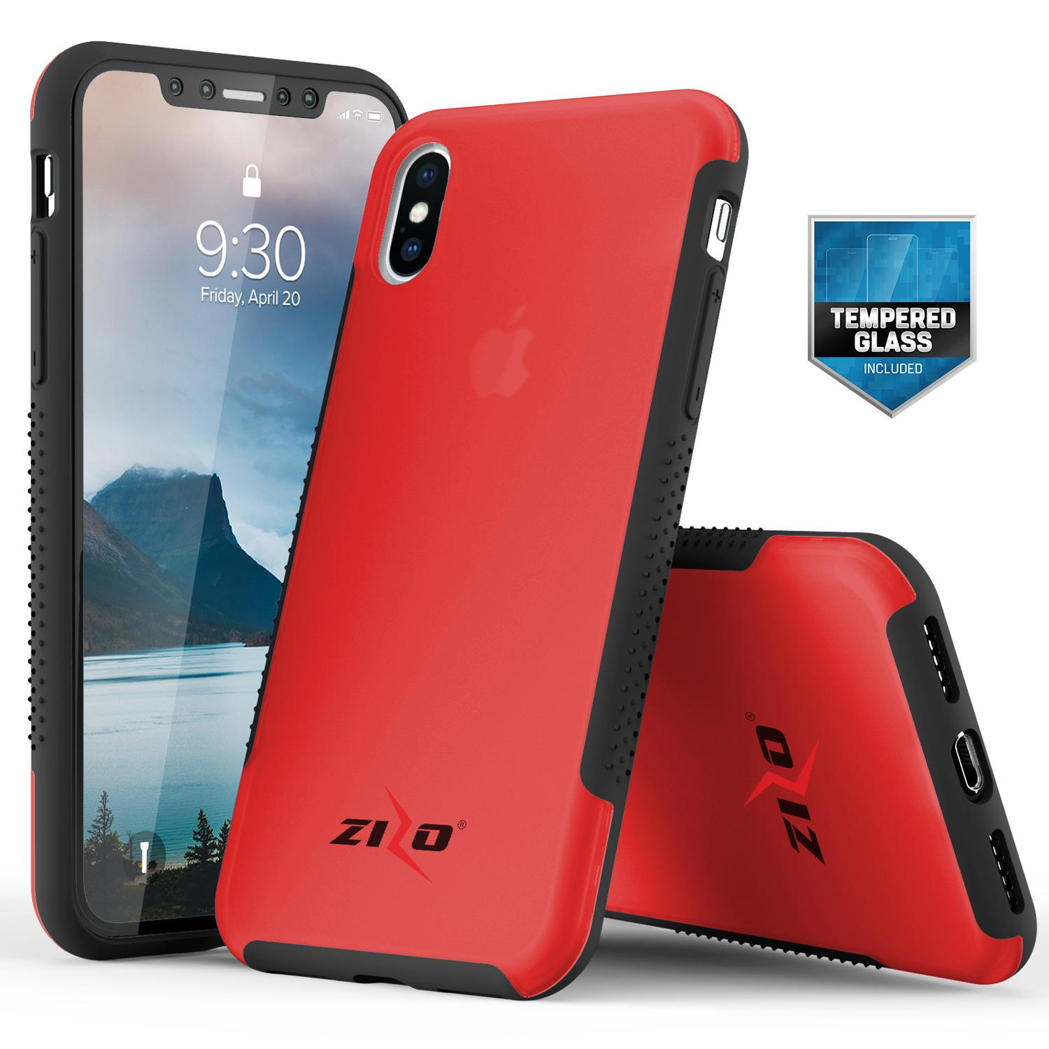 RED IPHONE X FLUX 3 CASE