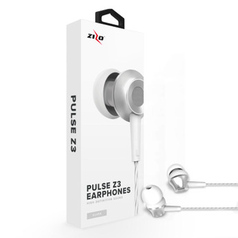 SILVER WIRED HEADPHONES