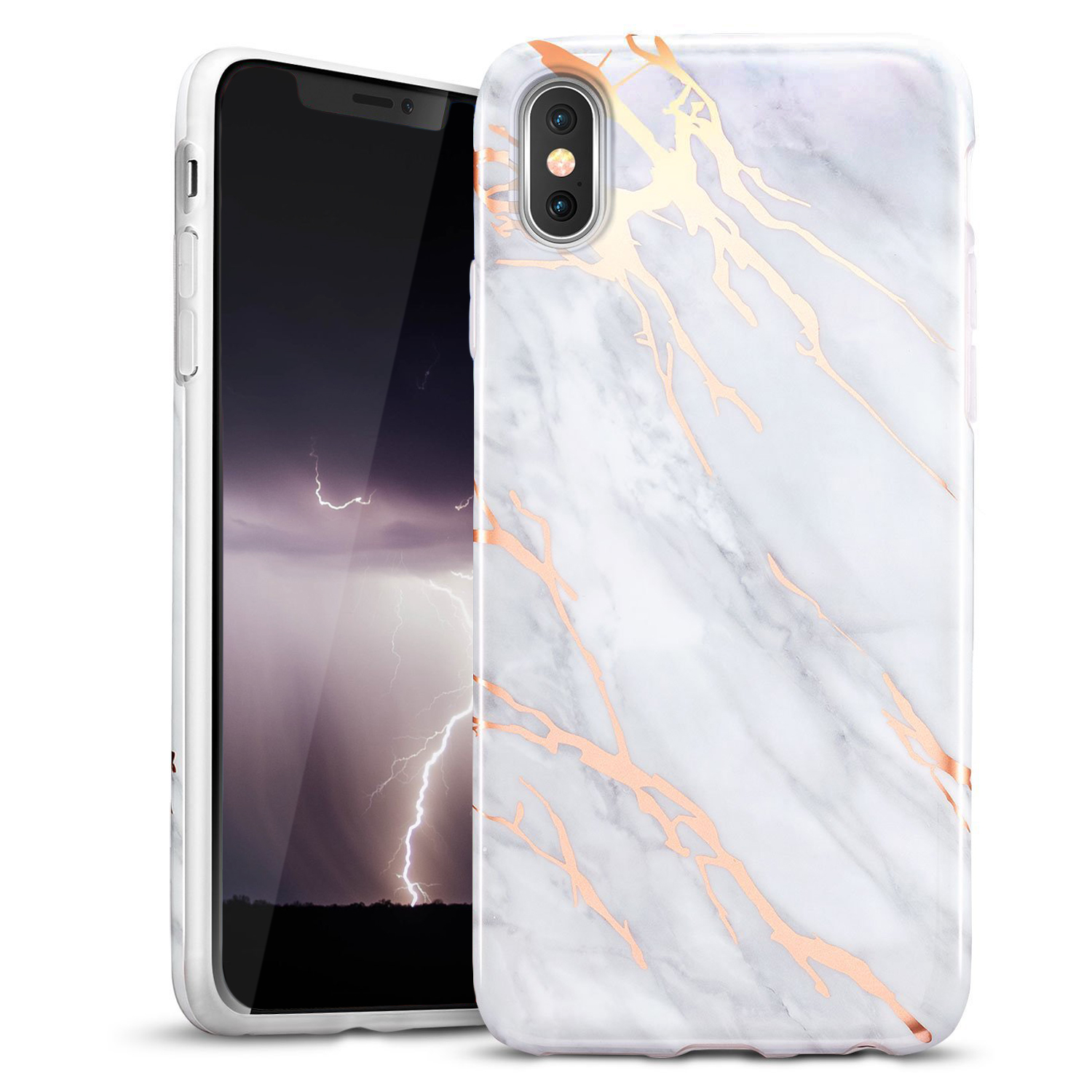 GOLD IPHONE X MARBLE CASE