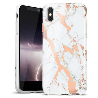 ROSE GOLD IPHONE X MARBLE CASE
