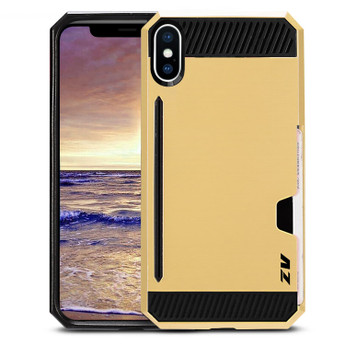 GOLD IPHONE X METAL HYBRID CASE
