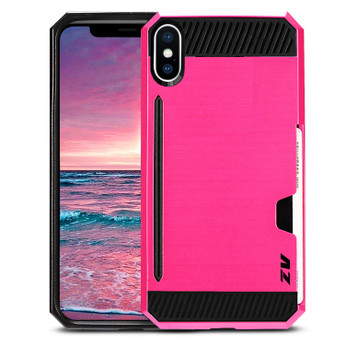 PINK IPHONE X METAL HYBRID CASE