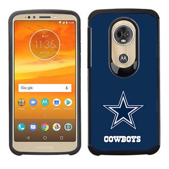 5016cf69f2e8 Motorola Moto E5 Supra NFL Licensed Cellphone Case Textured Back Cover on  Black TPU Skin