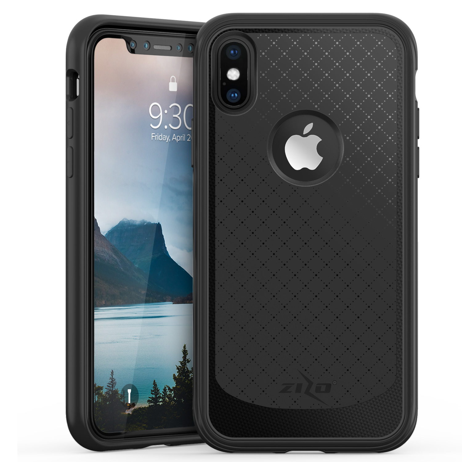 BLACK IPHONE X NOVA CASE