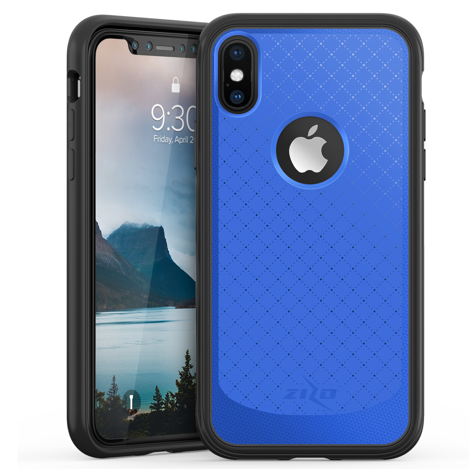 BLUE IPHONE X NOVA CASE