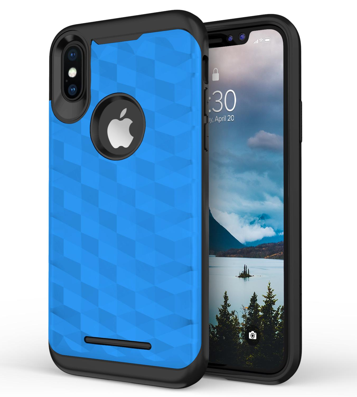 BLUE IPHONE X PRISM CASE