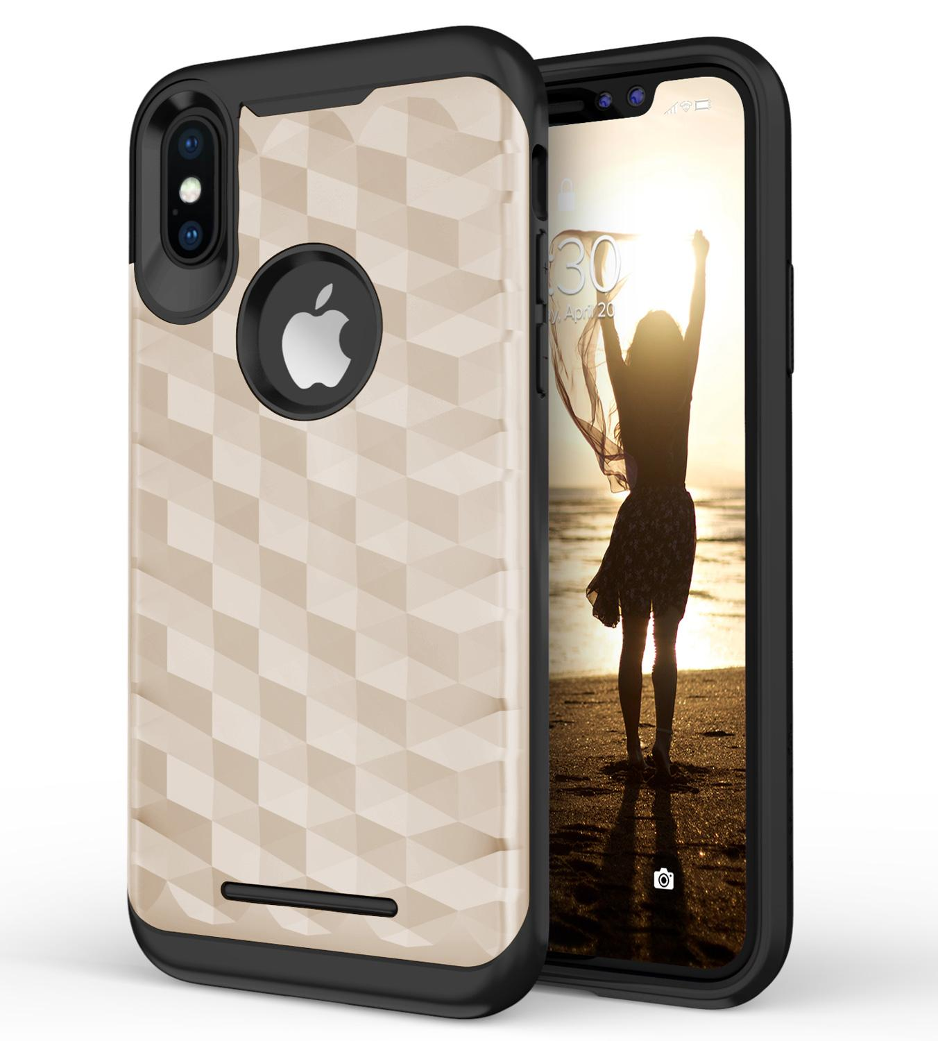 GOLD IPHONE X PRISM CASE