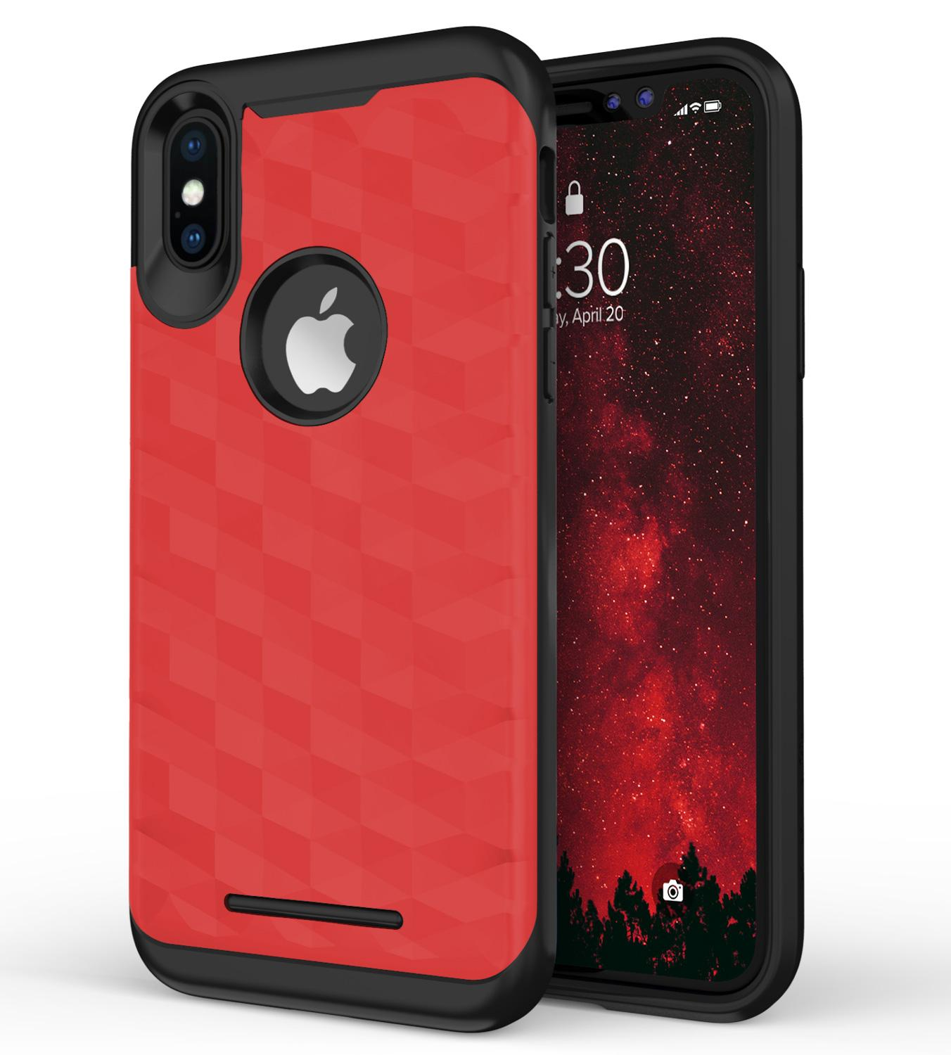 RED IPHONE X PRISM CASE