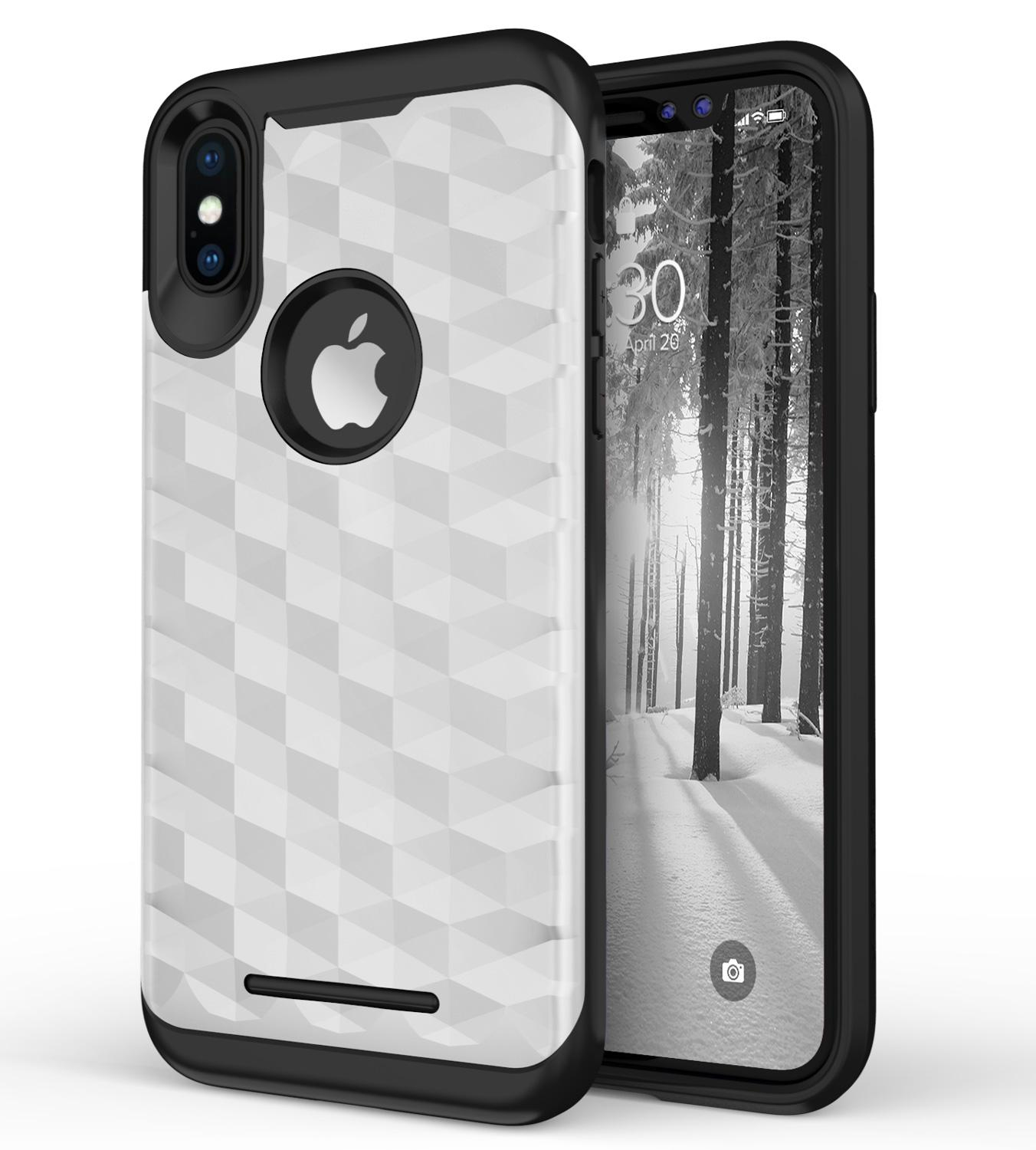SILVER IPHONE X PRISM CASE