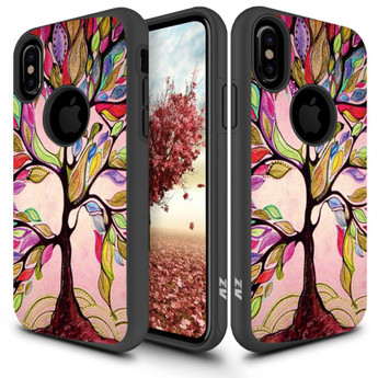 SLEEK COLORFUL TREE IPHONE X CASE
