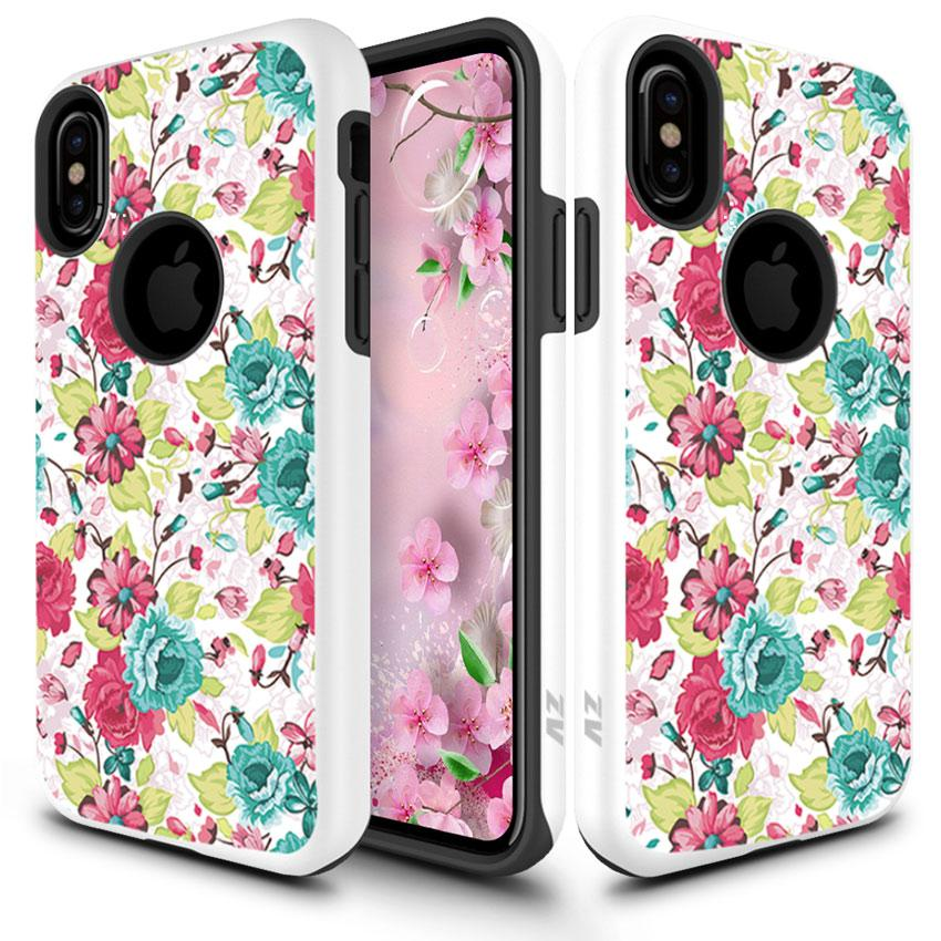 IPHONE X SLEEK FLOWERS CASE
