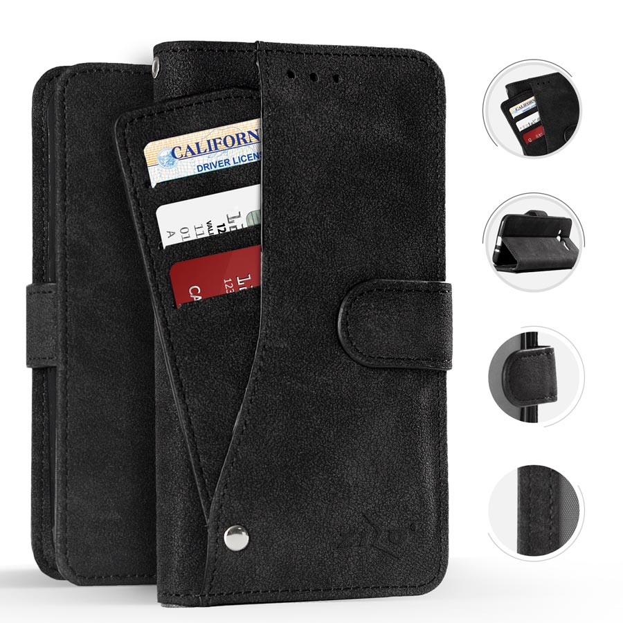 BLACK IPHONE X POCKET WALLET POUCH