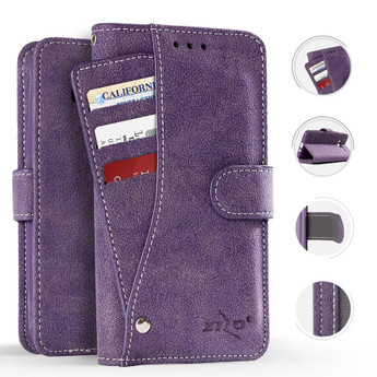 PURPLE IPHONE X POCKET WALLET CASE