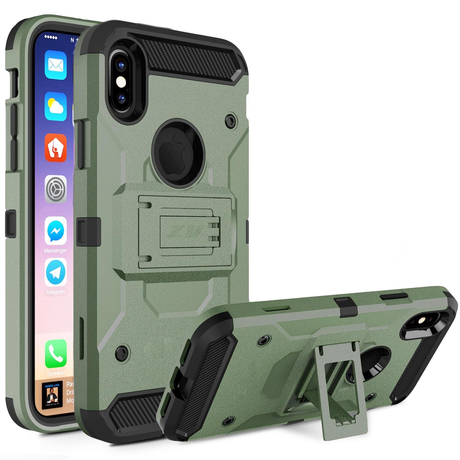 ARMY GREEN IPHONE X ARMOR CASE