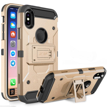 GOLD IPHONE X TOUGH ARMOR CASE