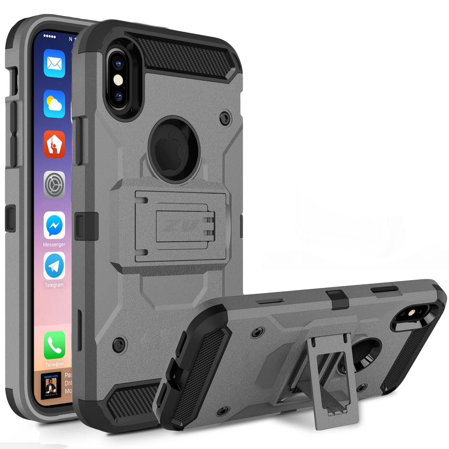 IPHONE X TOUGH ARMOR GRAY CASE