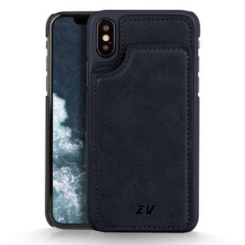 IPHONE X WALLET CASE BLUE