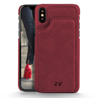 IPHONE X WALLET CASE BURGUNDY