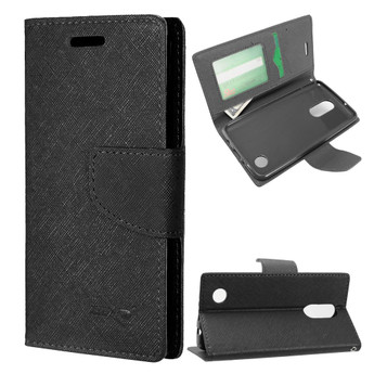 LG FORTUNE FLAP WALLET BLACK