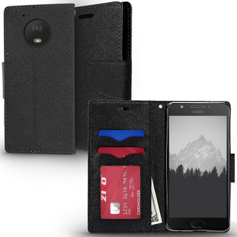ZIZO MOTO E4 WALLET CASE BLACK