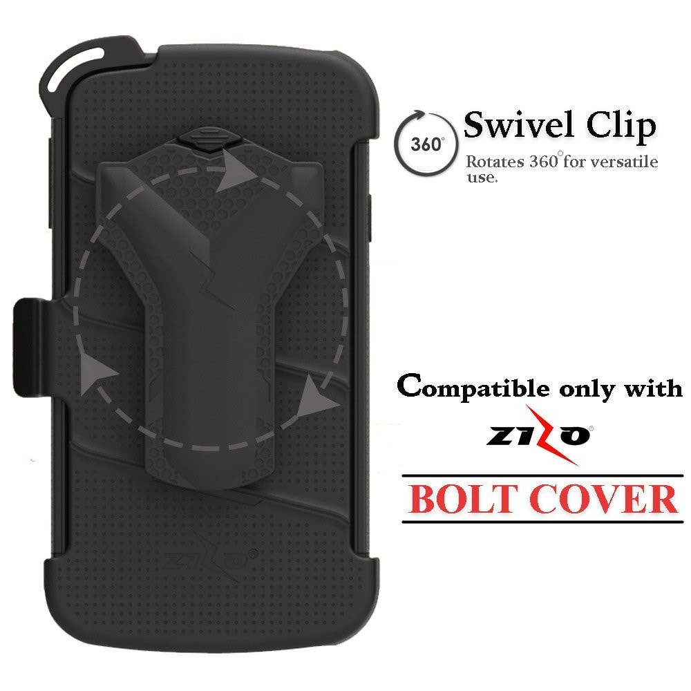 Replacement Holster Clip LG X Charge  Compatible With Zizo Bolt Covers Only - LG X Power 2 LV7