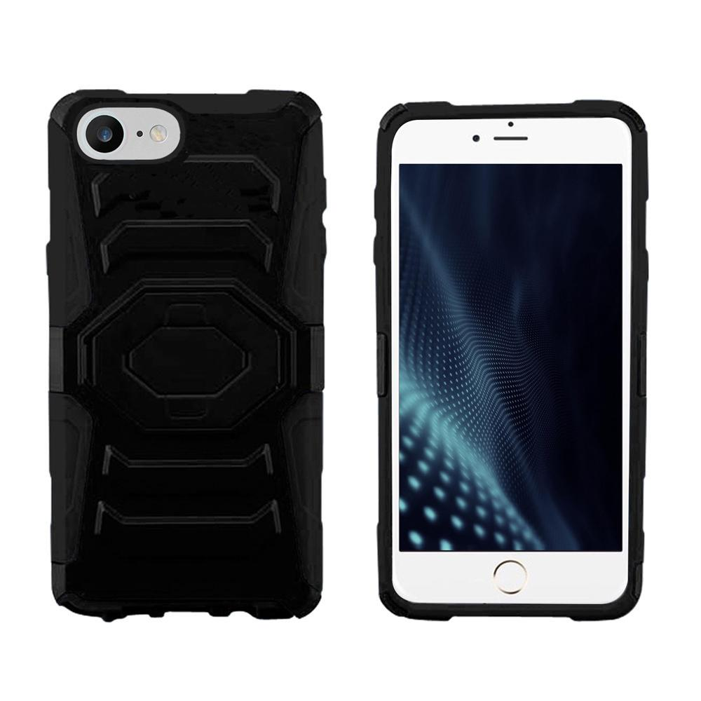 iPhone 8 / iPhone 7 Case - ZV Armor Cover Kickstand Holster Clip, Heavy Duty Strong Protective Case Slim Shockproof Dual Layer