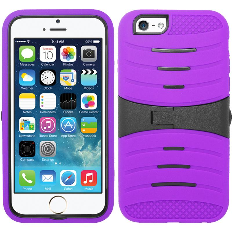 Zizo UCASE for iPhone SE 5 5G 5S Hybrid Dual Layer w/ Silicon Rugged Shell Protective Phone Case Cover w/ Kickstand