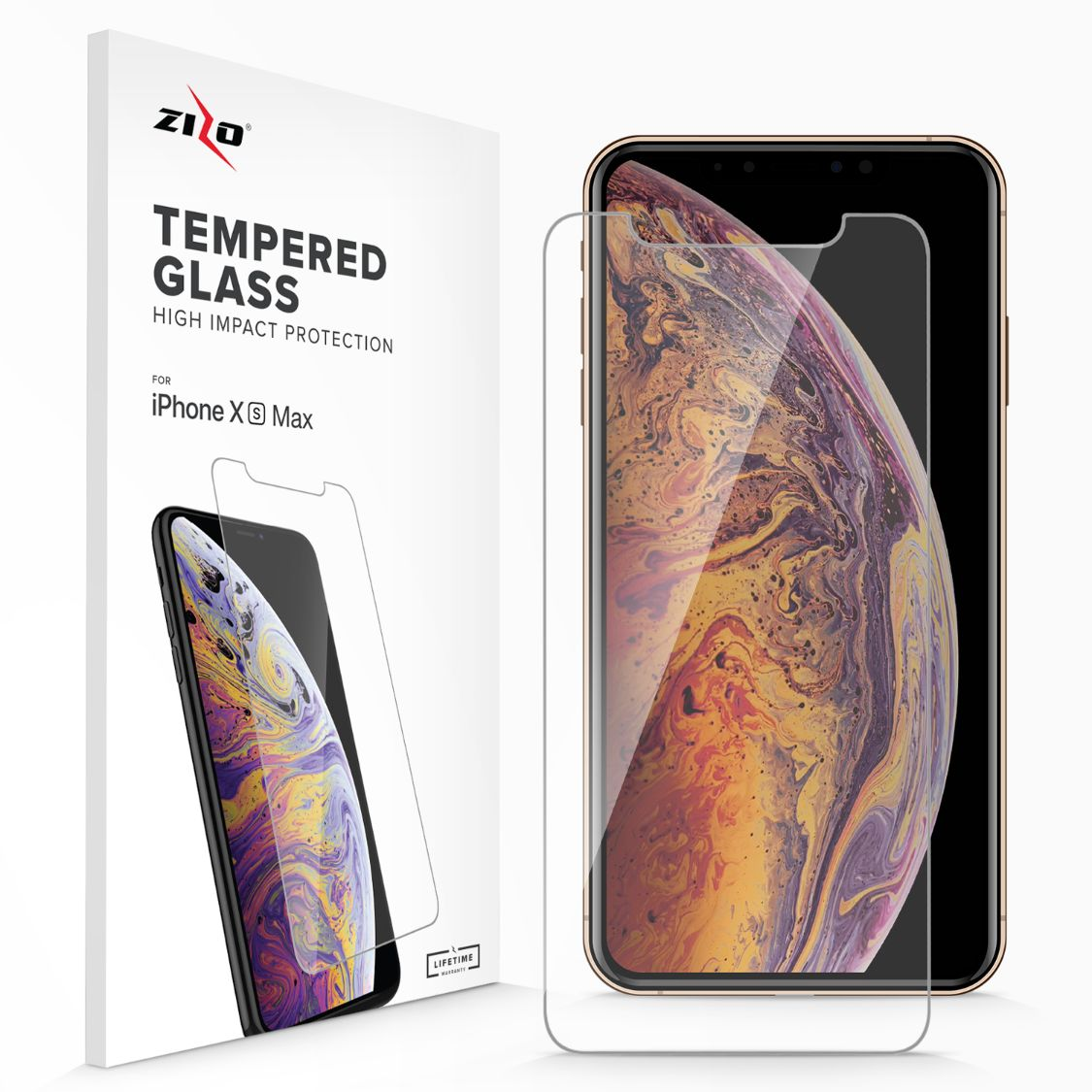 Lightning Shield iPhone XS Max Tempered Glass Screen Protector