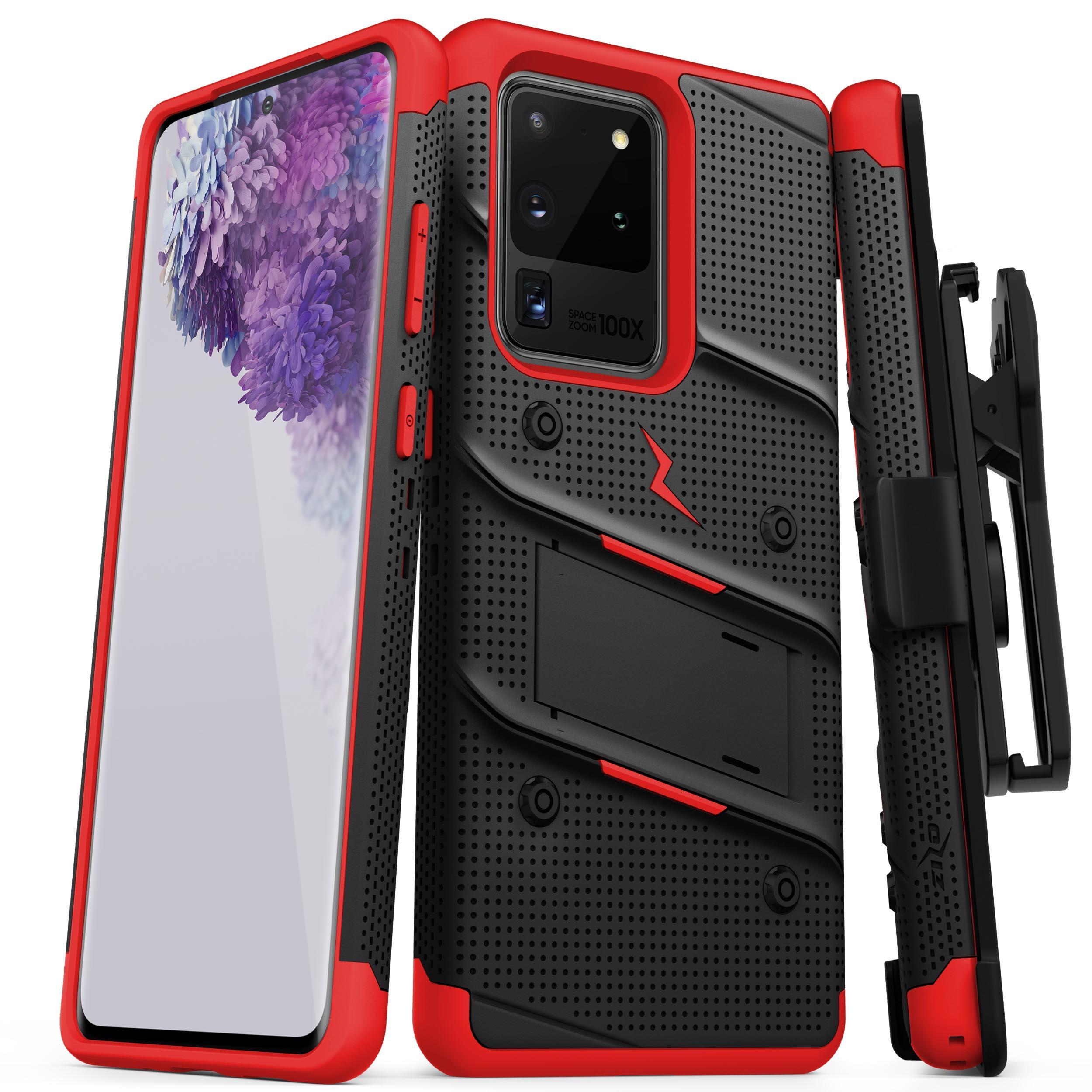 ZIZO BOLT Series Galaxy S20 Ultra Case - Black & Red