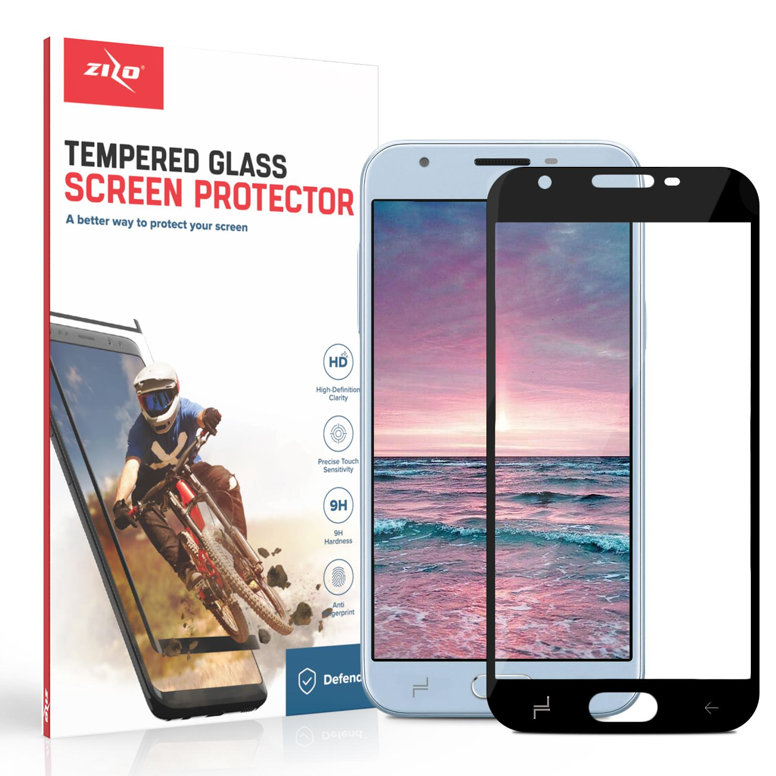 Full Glue Lightning Shield Samsung Galaxy Amp Prime 3 / J3 2018 Tempered Glass Screen Protector